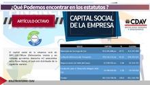 Estatuto capital social de la empresa